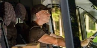 Smiling van driver