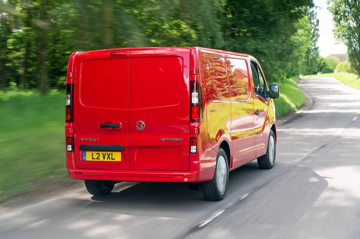 Vauxhall Vivaro on the road