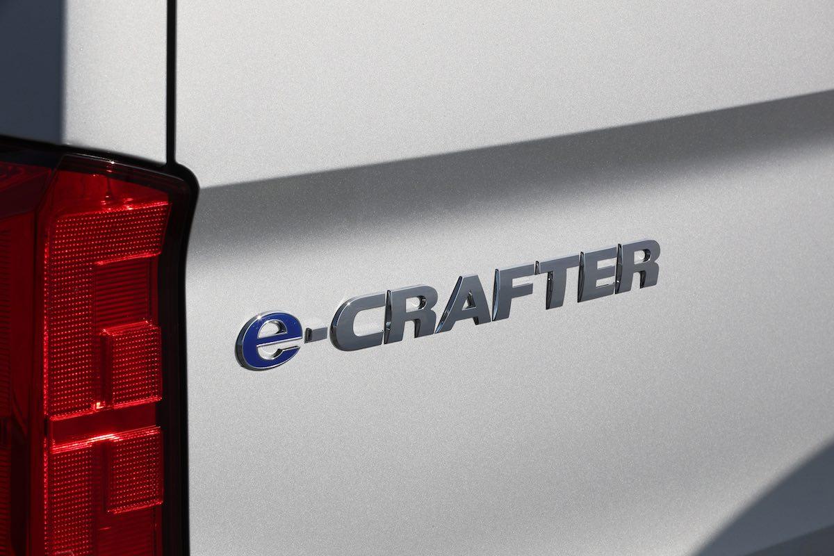 Volkswagen e-Crafter badge | The Van Expert