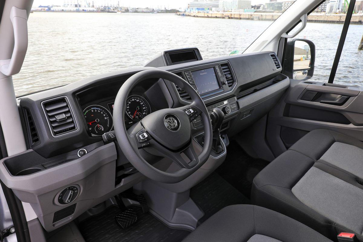 Volkswagen e-Crafter dashboard | The Van Expert