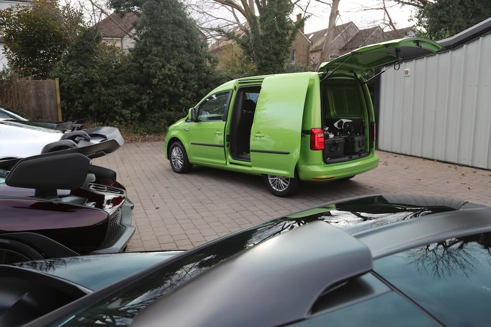 Volkswagen Caddy Viper Green rear
