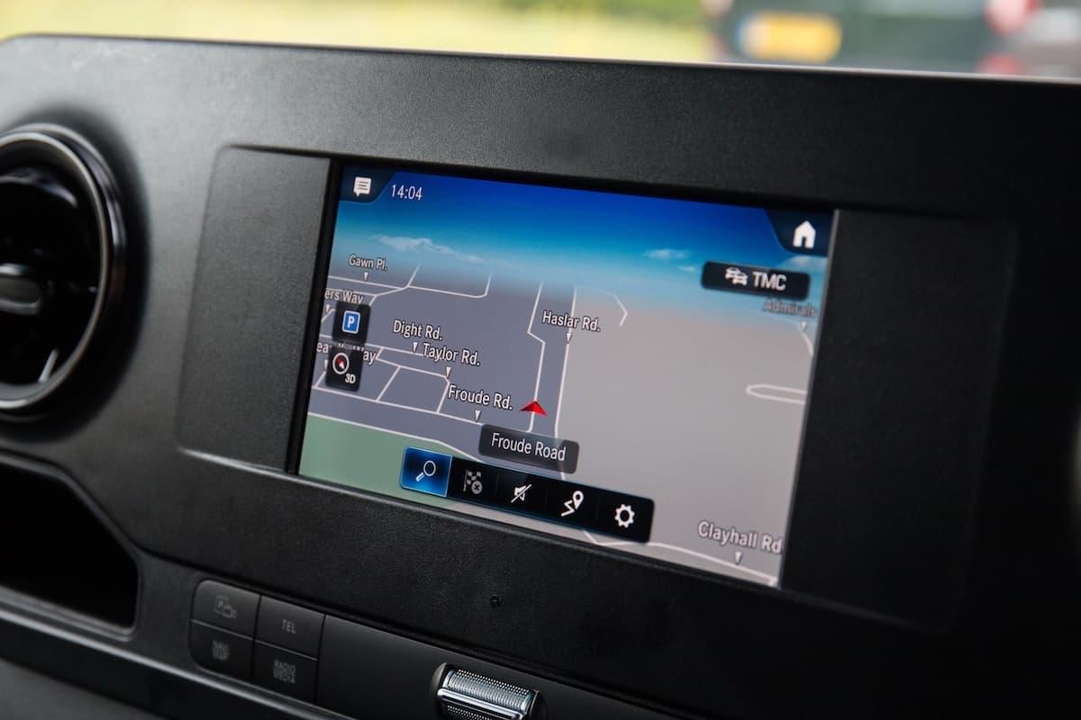 Mercedes-Benz Sprinter infotainment screen | The Van Expert