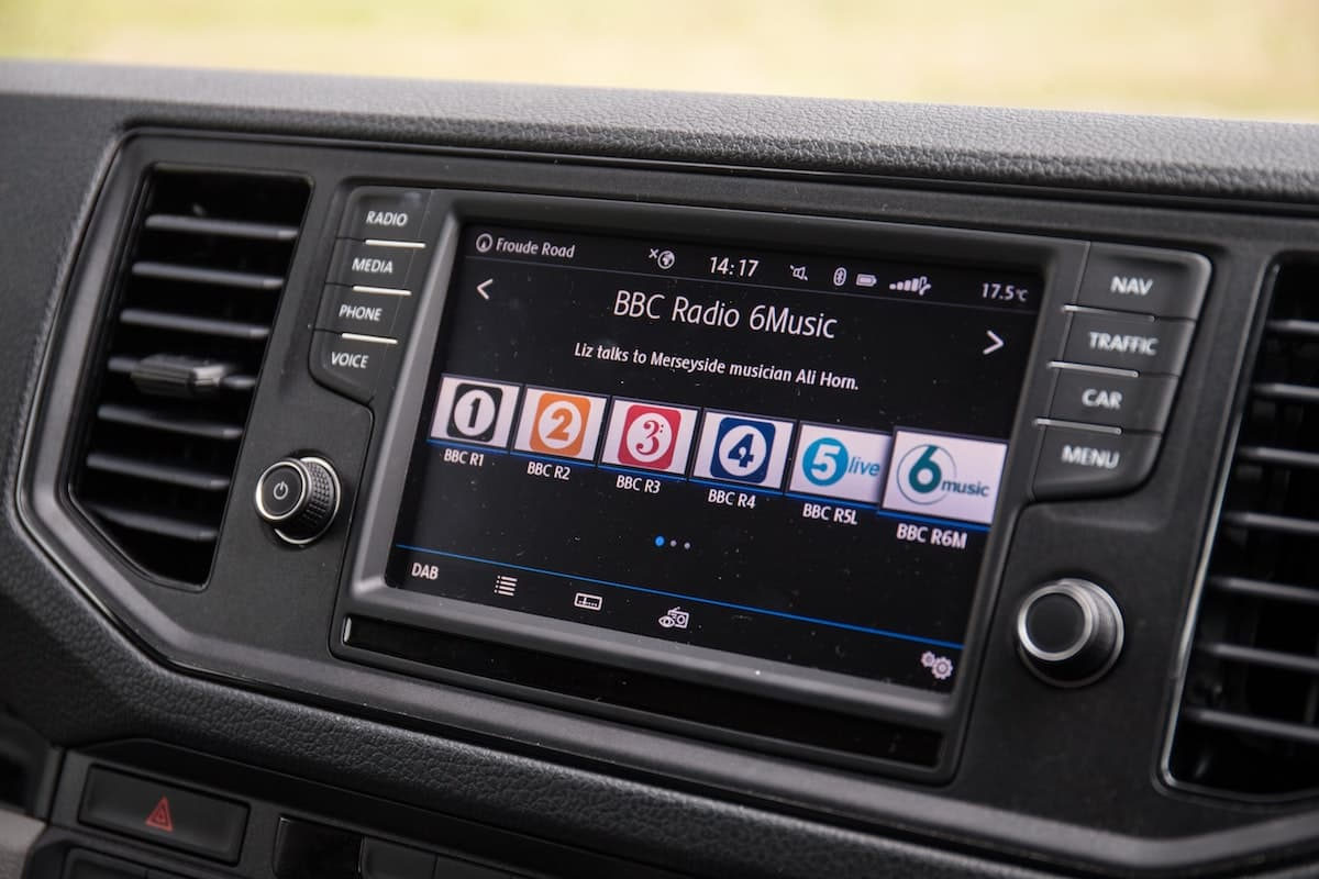 Volkswagen Crafter infotainment system | The Van Expert