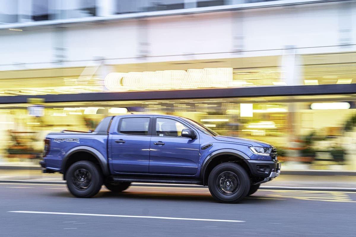 Ford Ranger Raptor road test 2019 - side profile | The Van Expert