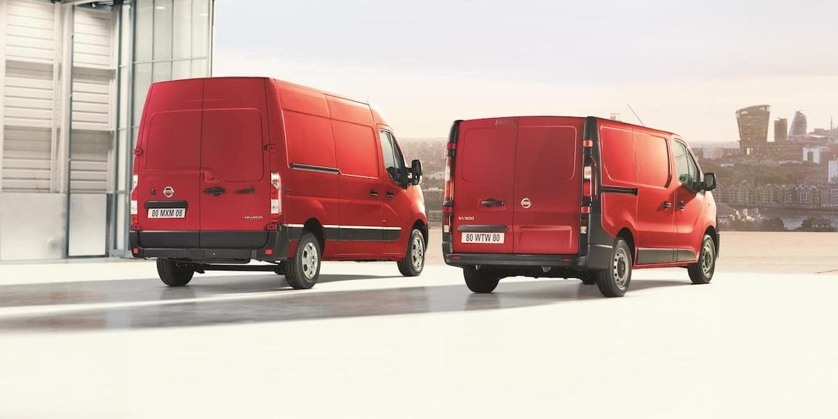 Updated Nissan NV300 and NV400 vans - rear view | The Van Expert