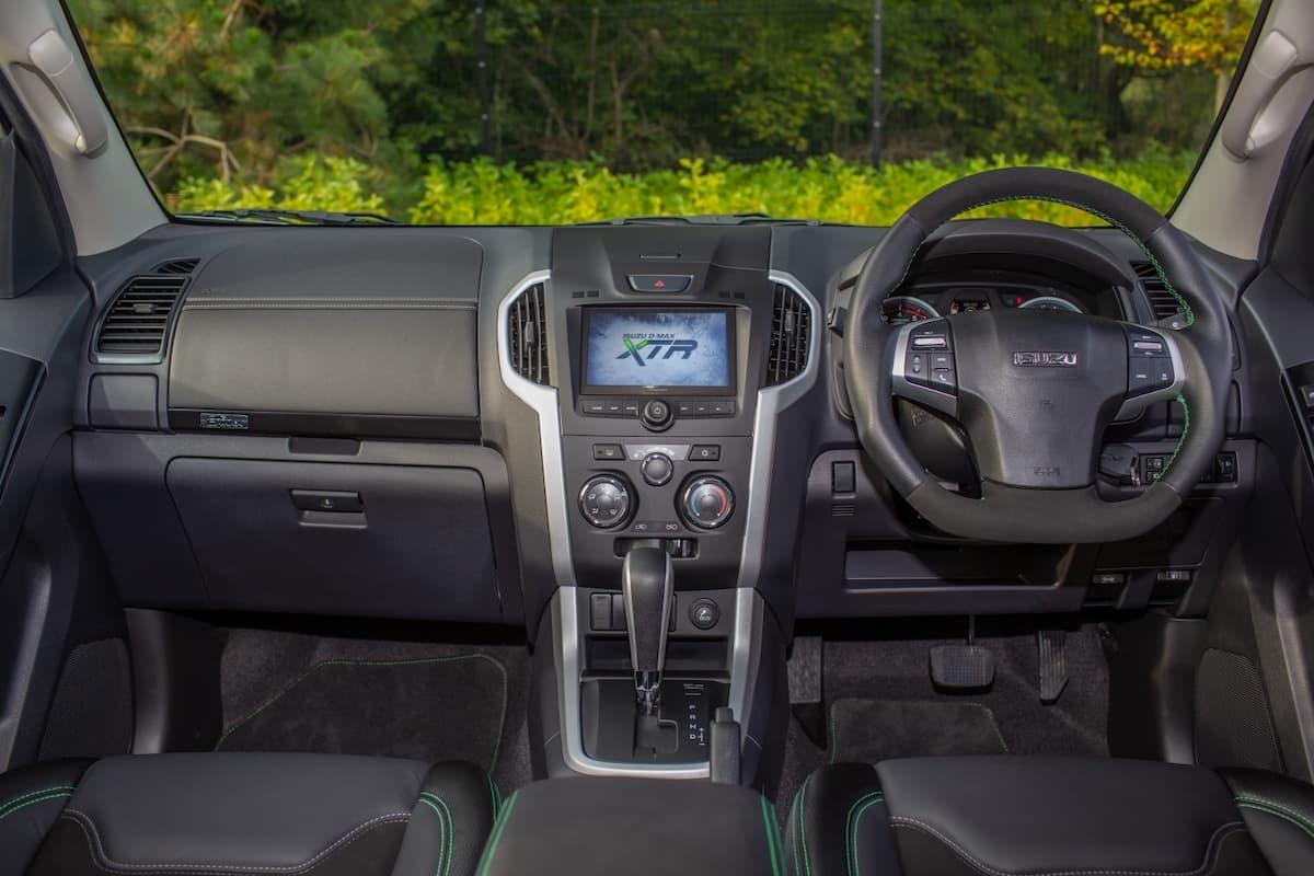 Isuzu D-Max XTR interior and dashboard | The Van Expert