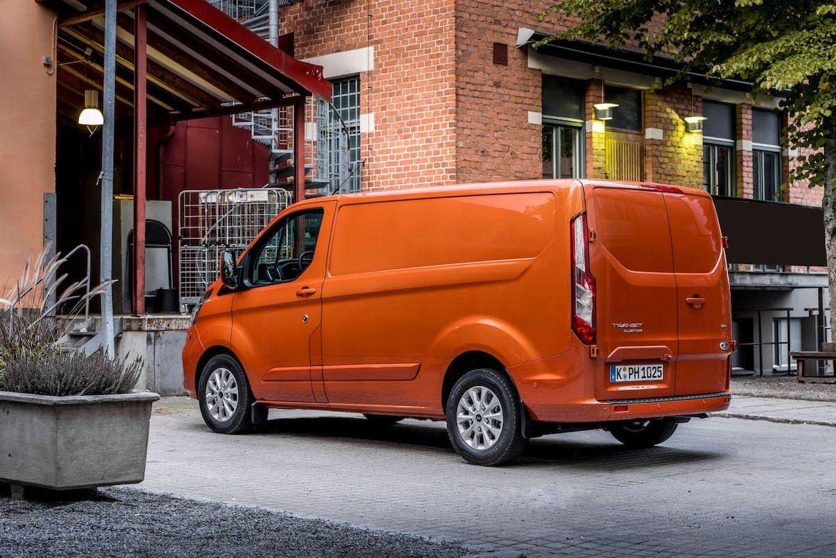 Ford Transit Custom PHEV review - rear