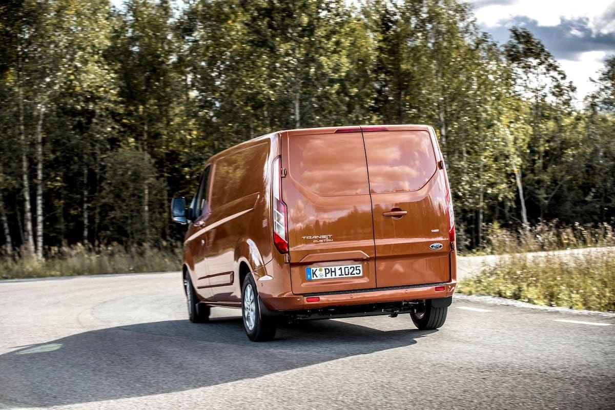 Ford Transit Custom PHEV road test - rear