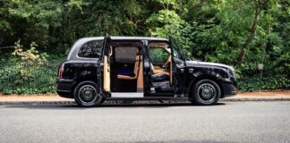 Luxury LEVC taxi