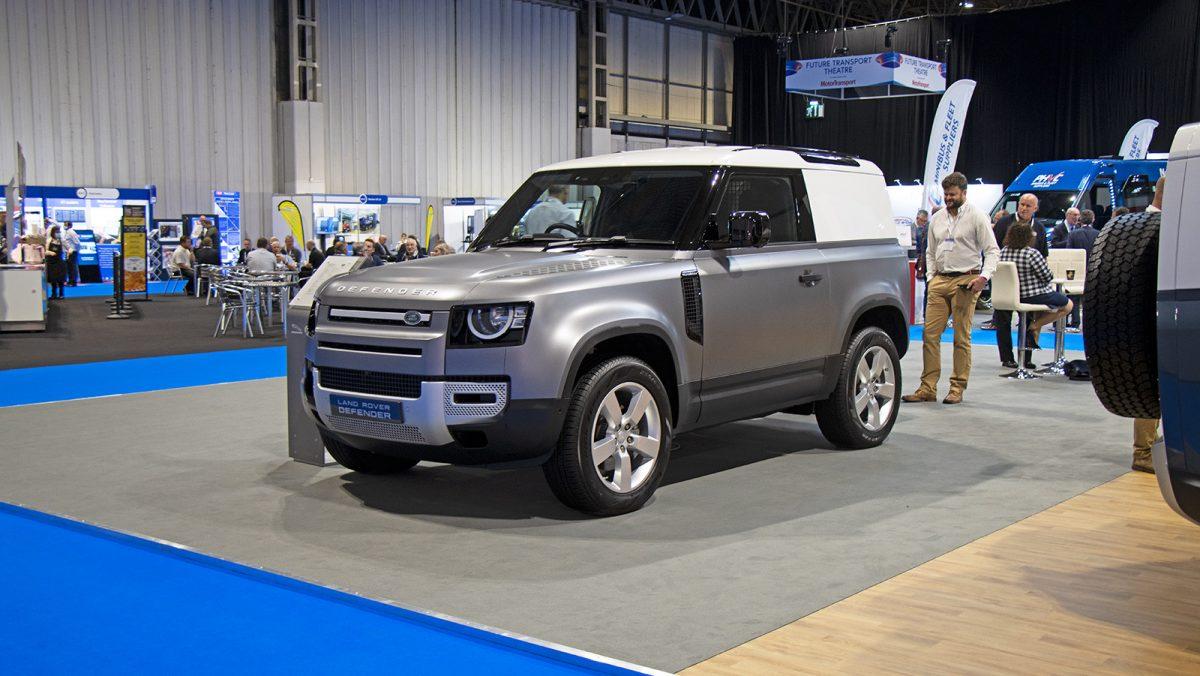 2108 Land Rover Defender 90 front 34 CV Show