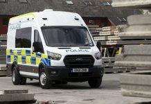 Ford Transit police riot van